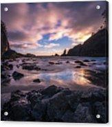 Washington Coast Skies Blue Clarity Acrylic Print