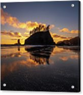 Washington Coast Weeping Lady Sunset Cloudscape Acrylic Print