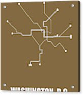 Washington, D.c. Subway Map 2 Acrylic Print