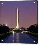 Washington Monument at Sunset Acrylic Print