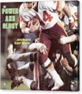 Washington Redskins John Riggins, Super Bowl Xvii Sports Illustrated Cover Acrylic Print