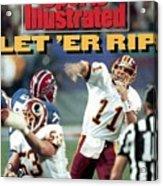 Washington Redskins Qb Mark Rypien, Super Bowl Xxvi Sports Illustrated Cover Acrylic Print
