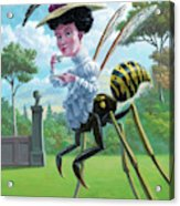 Wasp Woman Insect Drinking Tea Fantasy Acrylic Print