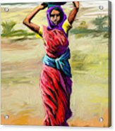 Water Carrier Acrylic Print