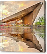 Water Reflection Central Station Rotterdam Acrylic Print