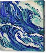 Watercolor - Ocean Wave Design Acrylic Print