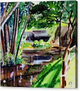 Watercolor Of The Watermill Of Gemage Acrylic Print