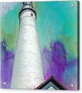 Watercolor Sky Lighthouse Acrylic Print