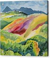 Watercolor - Wilson Mesa Landscape Impression Acrylic Print