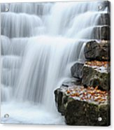 Waterfall Flowing Over Rock Stair Acrylic Print