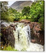 Waterfall Under The Mountain Acrylic Print
