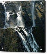 Waterfalls At The Cirque De Gavarnie Acrylic Print