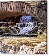 Waterfalls Through Stone Bridge Acrylic Print
