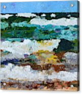 Waves Crash - Painting Version Acrylic Print