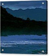 Waves In The Pacific Ocean, Waimea Bay Acrylic Print