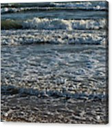 Waves Quietly Approaching Acrylic Print