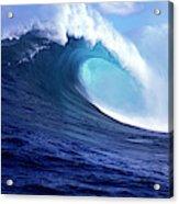 Waves Splashing In The Sea, Maui Acrylic Print