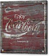 Weathered Coca Cola Sign Acrylic Print