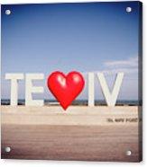 Welcome To Tel Aviv Port Acrylic Print