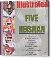 West Virginia University Major Harris, University Of Notre Sports Illustrated Cover Acrylic Print