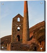 Wheal Coates Mine Chapel Porth Cornwall Acrylic Print