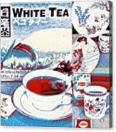 White Tea In Blue And White Acrylic Print