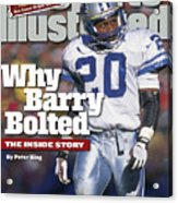 Why Barry Bolted The Inside Story Sports Illustrated Cover Acrylic Print