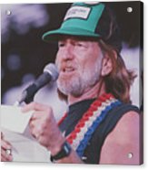 Willie Nelson Reading Letter Acrylic Print