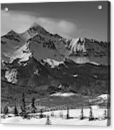 Wilson Peak Winter Panorama Acrylic Print