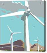 Wind Turbine Farm In Countryside Acrylic Print