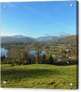 Windermere With Loughrigg Fell And The Langdales From Ambleside Acrylic Print