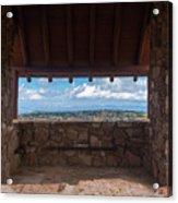 Window View - Ccc Lookout- Cedar Breaks - Utah Acrylic Print
