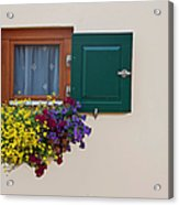 Window With Flowers Acrylic Print