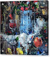 Wine And Fruits Acrylic Print