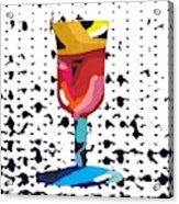 Wine And Matzo- Art By Linda Woods Acrylic Print