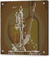 Wine Bottle Corking Patent Acrylic Print