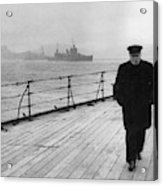 Winston Churchill At Sea Acrylic Print