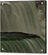 American Falls In Winter, New York Acrylic Print
