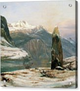 Winter At The Sognefjord - Digital Remastered Edition Acrylic Print