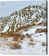 Winter Badlands Acrylic Print