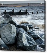 Winter By The Sea Acrylic Print