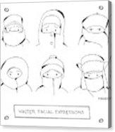 Winter Facial Expressions Acrylic Print