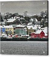Winter In Lunenburg Acrylic Print