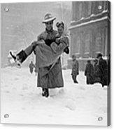 Winter In New York Acrylic Print
