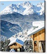 Winter Landscape On The Italian Dolomites Acrylic Print