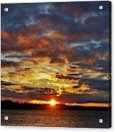 Winter Sunset Over Grand Island Acrylic Print