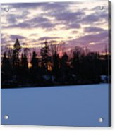 Winter Sunsets Acrylic Print