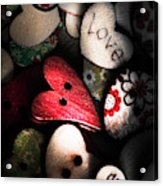With Sentiment In The Sewing Box Acrylic Print
