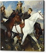 With The York And Ainsty, The Children Of Mr Edward Lycett Green Acrylic Print