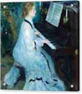 Woman At The Piano Acrylic Print
